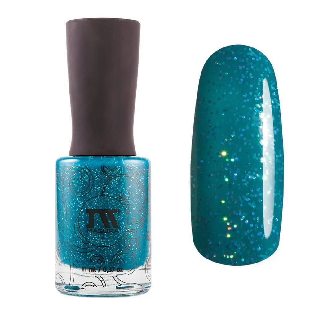 Лак для ногтей Sparkle Teal The End, 11 мл